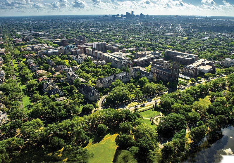 Tulane University Campus Aerial Photo